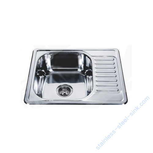Single Bowl with Drainboard Kitchen Sink WY-5848