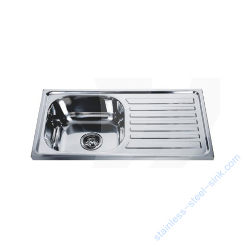 Single Bowl with Drainboard Kitchen Sink WY-7540S