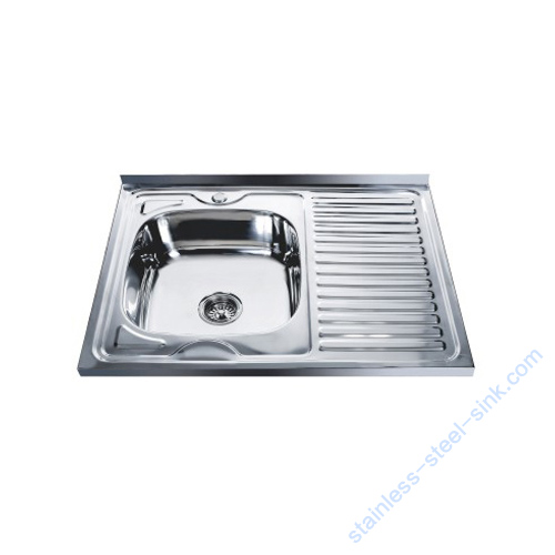Single Bowl with Drainboard Kitchen Sink WY-8060SB