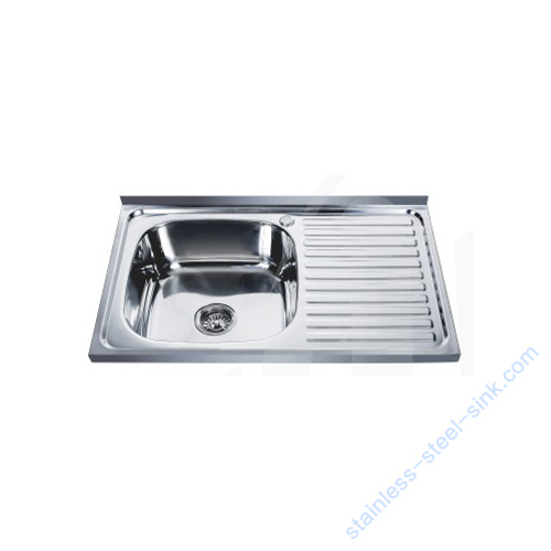 Single Bowl with Drainboard Kitchen Sink WY-8050SA