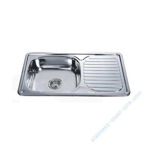 Single Bowl with Drainboard Kitchen Sink WY-7642S