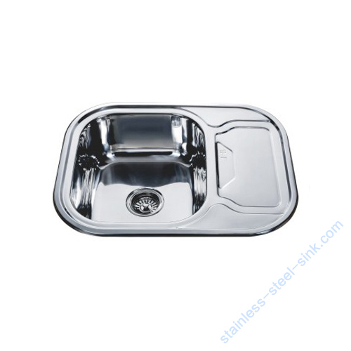Single Bowl with Drainboard Kitchen Sink WY-6349S