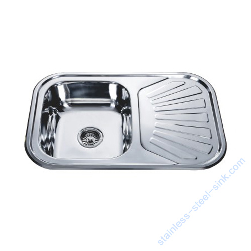 Single Bowl with Drainboard Kitchen Sink WY-7549