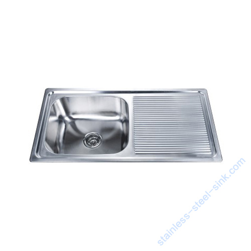 Single Bowl with Drainboard Kitchen Sink WY-9145