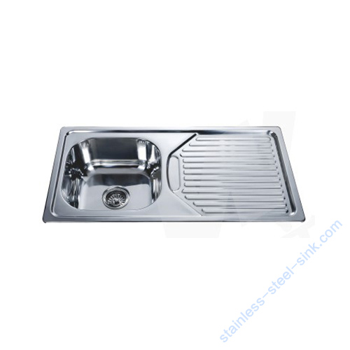 Single Bowl with Drainboard Kitchen Sink WY-86435