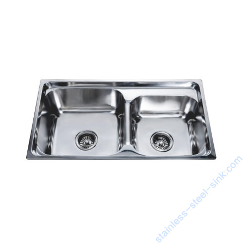 Double Bowl Kitchen Sink WY-7540DB