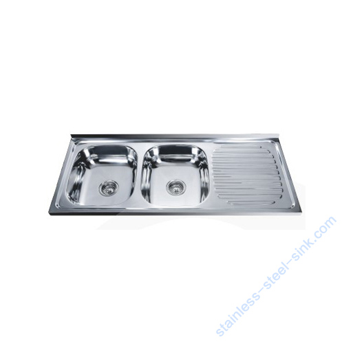 Double Bowl with Drainboard Kitchen Sink WY-12050DB
