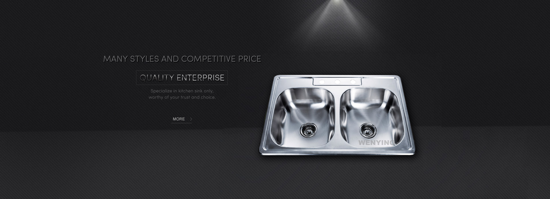 Specialize in kitchen sink only,worthy of your trust and choice.